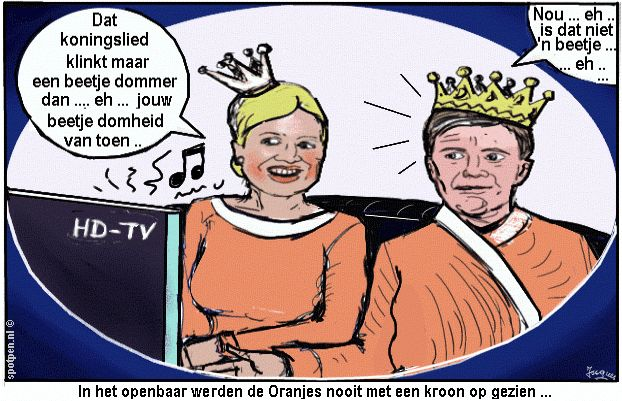 Maxima Willem-Alexander cartoon
