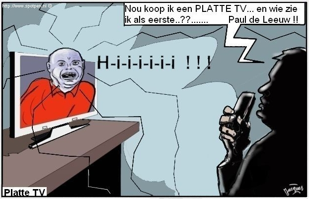 Paul de Leeuw cartoon Balkenendenorm televisie