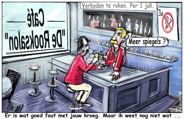 Rookverbod cartoon café kroeg
