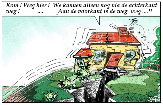 aardbeving  cartoon