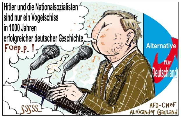 AfD Deutschland - cartoon Duitsland
