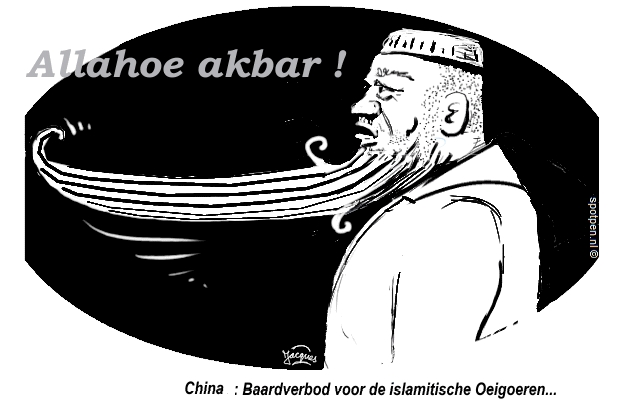 cartoon baard baarden moslims