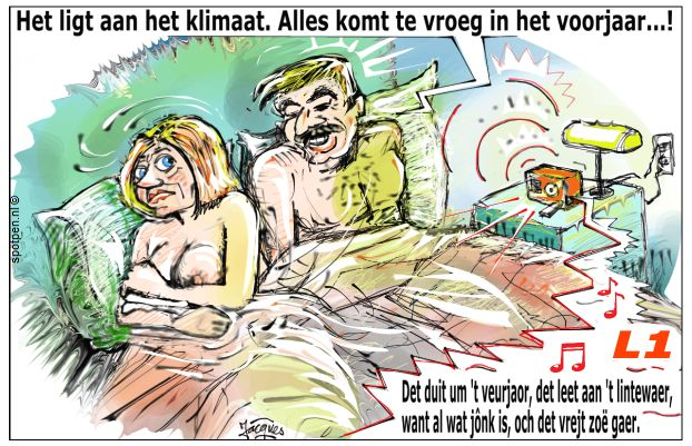 klaarkomen vrijers cartoon