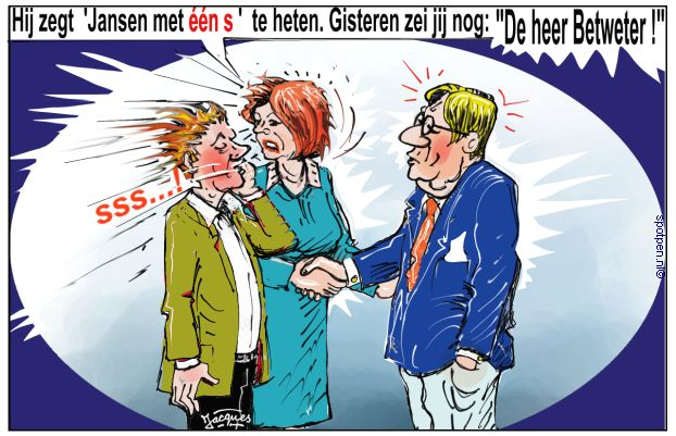 Betweter - cartoon - bemoeial