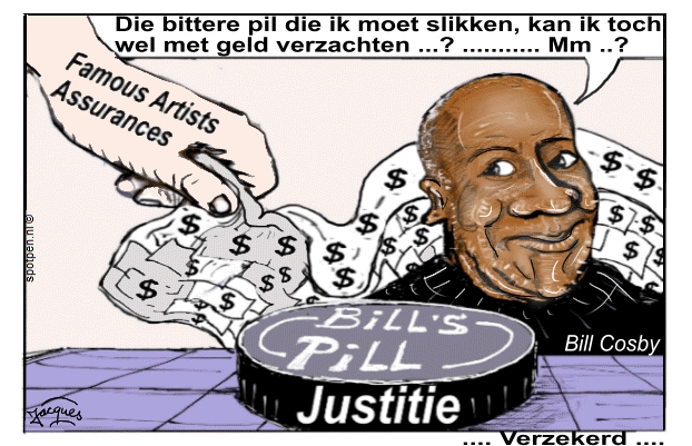 Biil Cosby cartoon verzekeringen geld