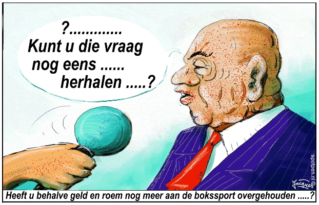 cartoon bokser interview vraaggesprek