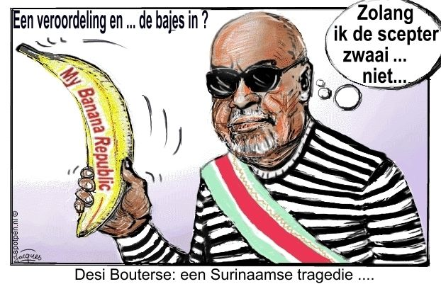 Bouterse Suriname cartoon
