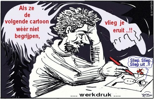 cartoon werkdruk