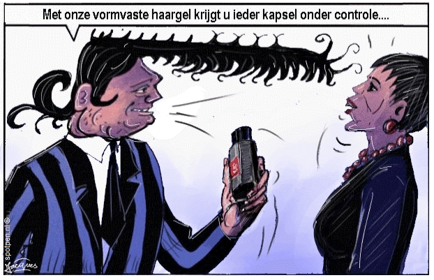 kapper cartoon kapsel  haar haren haardracht