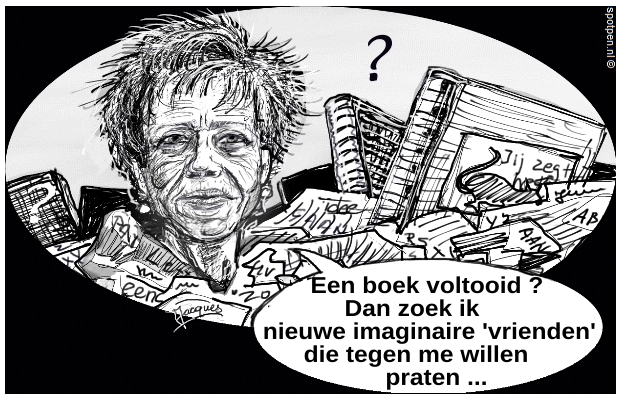 Connie Palmen cartoon - schrijver - auteur