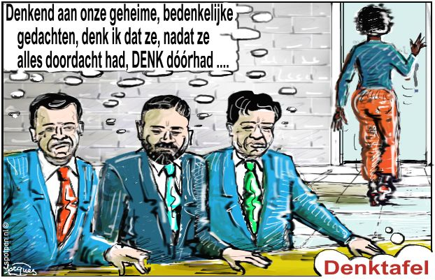 Denk politieke partij cartoon