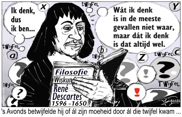 René Descartes cartoon