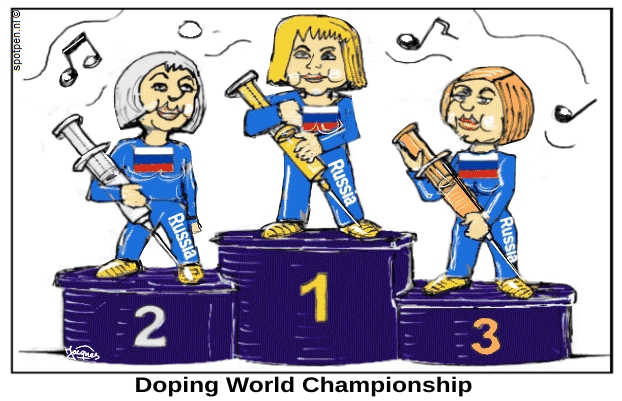cartoon  Doping  Rusland