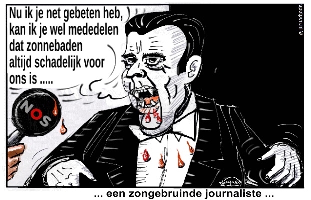 dracula zonnebaden cartoon