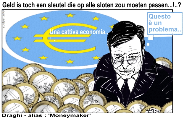 ECB Draghi cartoon EU