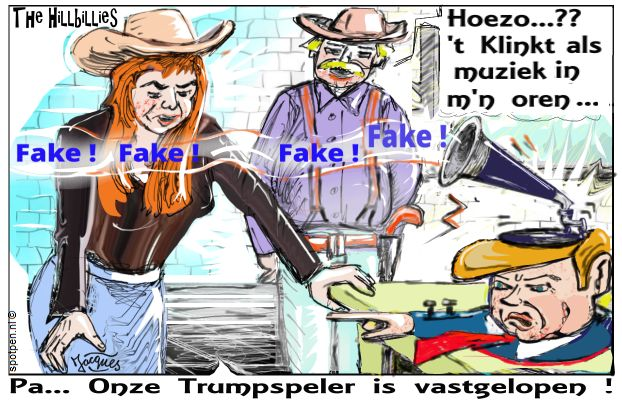 fake news cartoon nepnieuws