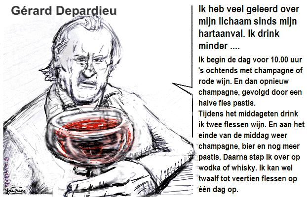 Gerard Depardieu cartoon
