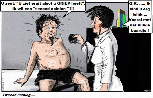 Cartoon second opinion griep
