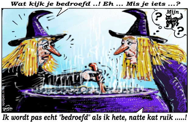 heksen cartoon kookpot