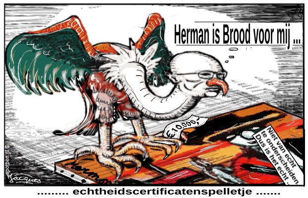 Herman Brood  cartoon  schilderijen certificaten