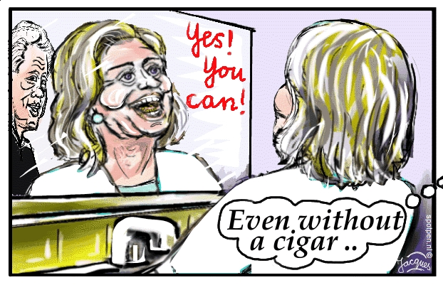 cartoon Hillary Clinton