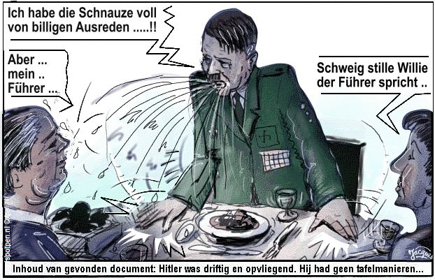 Hitler nazisme SS nationaal-socialisme cartoon