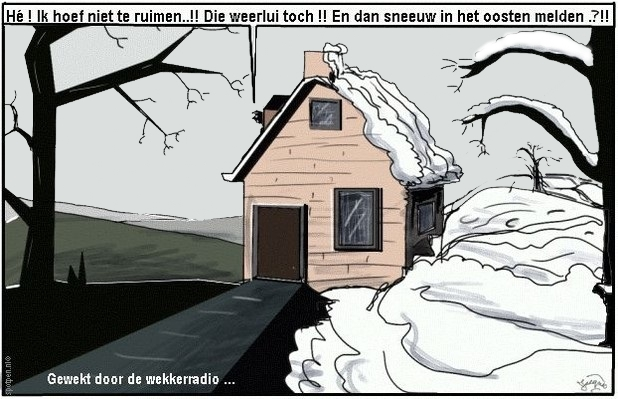 Sneeuw ruimen cartoon winter weer