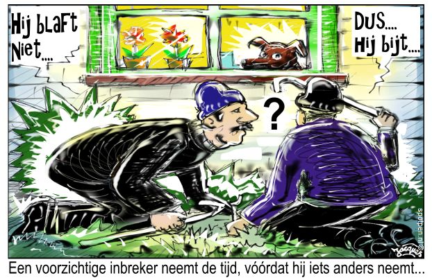 inbrekers cartoon inbreker inbraak