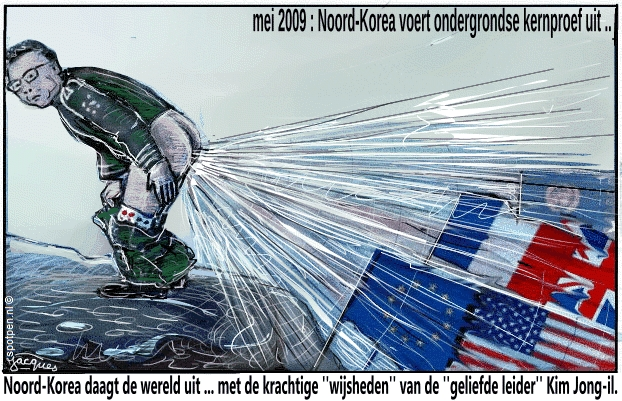 Noord-Korea cartoon  Kim Jung il un