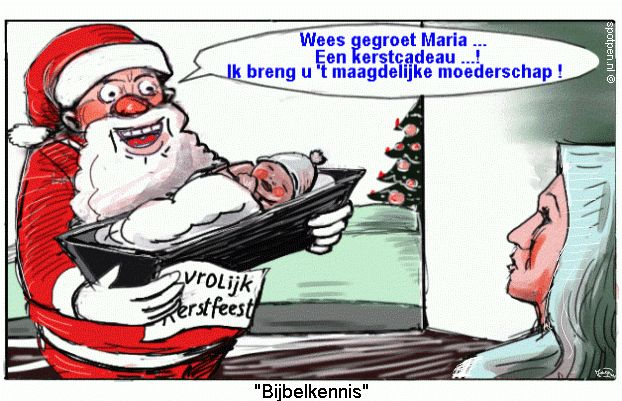 cartoon Kerstman Kerstverhaal
