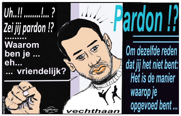 kickbokser cartoon Badr Hari