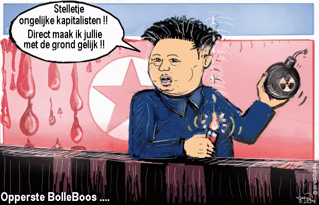 Kim Jong-un cartoon  Noord-Korea
