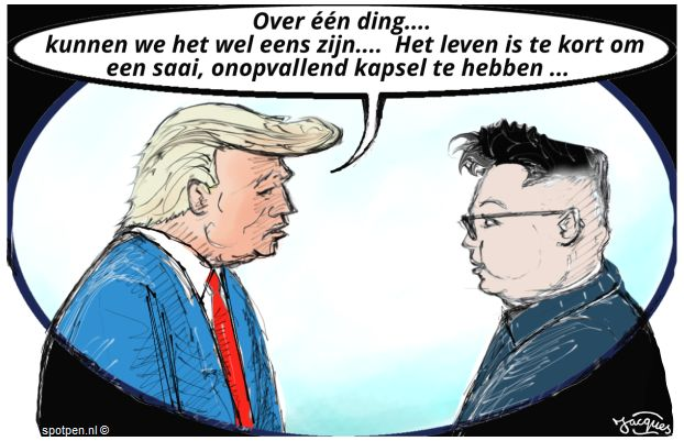 Donald Trump Kim-Jong-un cartoon