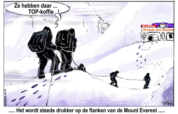 cartoon bergklimmers bergbeklimmers