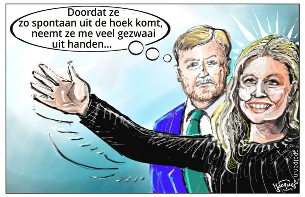 koning koningin cartoon