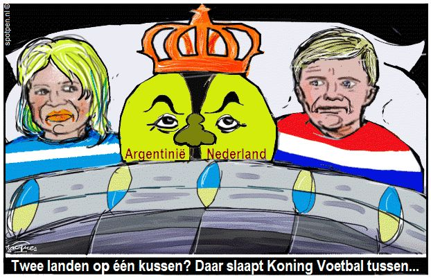 Willem-Alexander Máxima cartoon