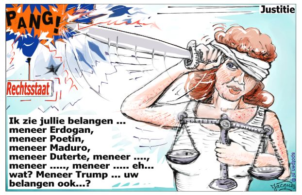 vrouwe justitia cartoon