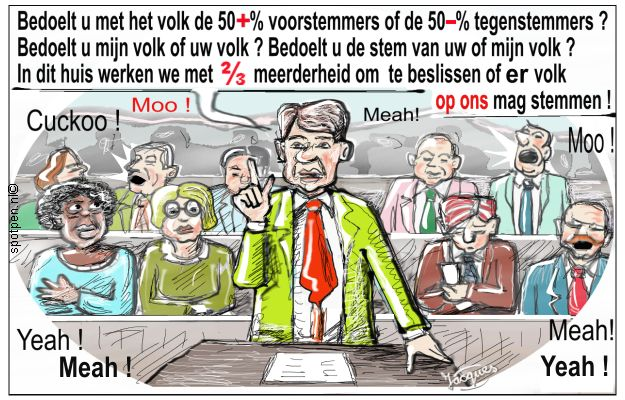 parlement cartoon lagerhuis