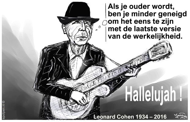 leonard cohen singer-song-writer  cartoon
