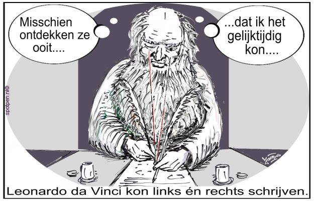 Leonardo da Vinci cartoon