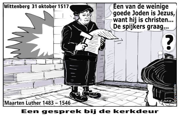 Maarten Luther cartoon