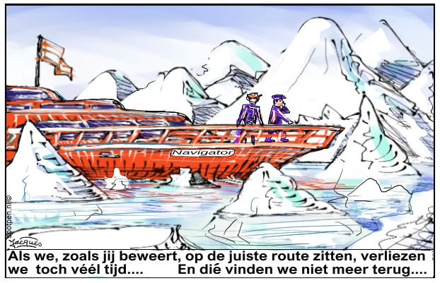 navigeren navigator  boot cartoon