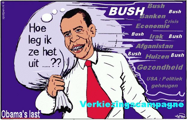 cartoon  Obama verkiezingen