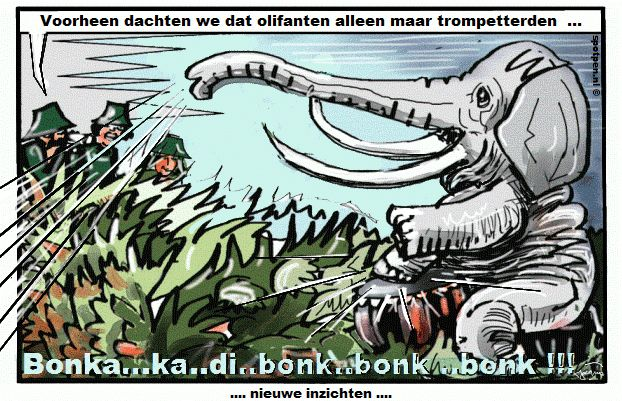 Cartoon   olifant  olifanten