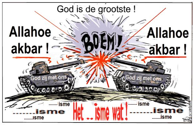 cartoon tanks oorlog moslims islam