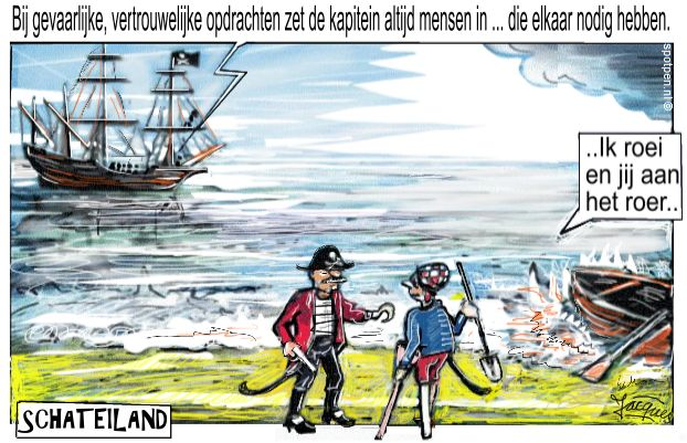 Cartoon zeerovers  piraten kapers