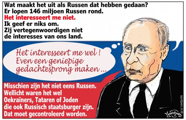 Poetin Putin Rusland cartoon