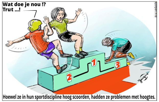 sport podium prijsuitreiking cartoon