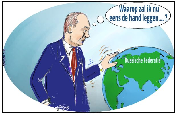 Rusland cartoon Poetin Putin