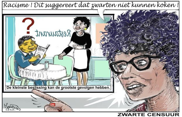 racisme cartoon